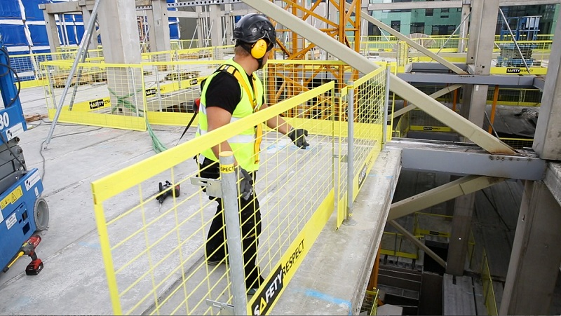 Stepping In Or Out Over Safety Edge Protection Systems