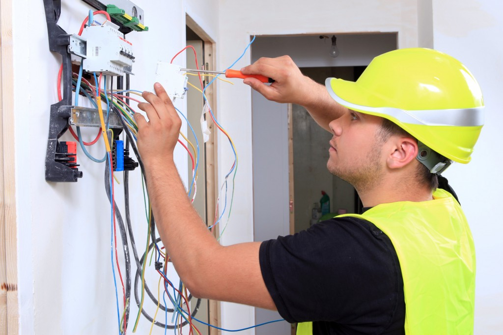 What the essential tools or equipment within the electrician box?