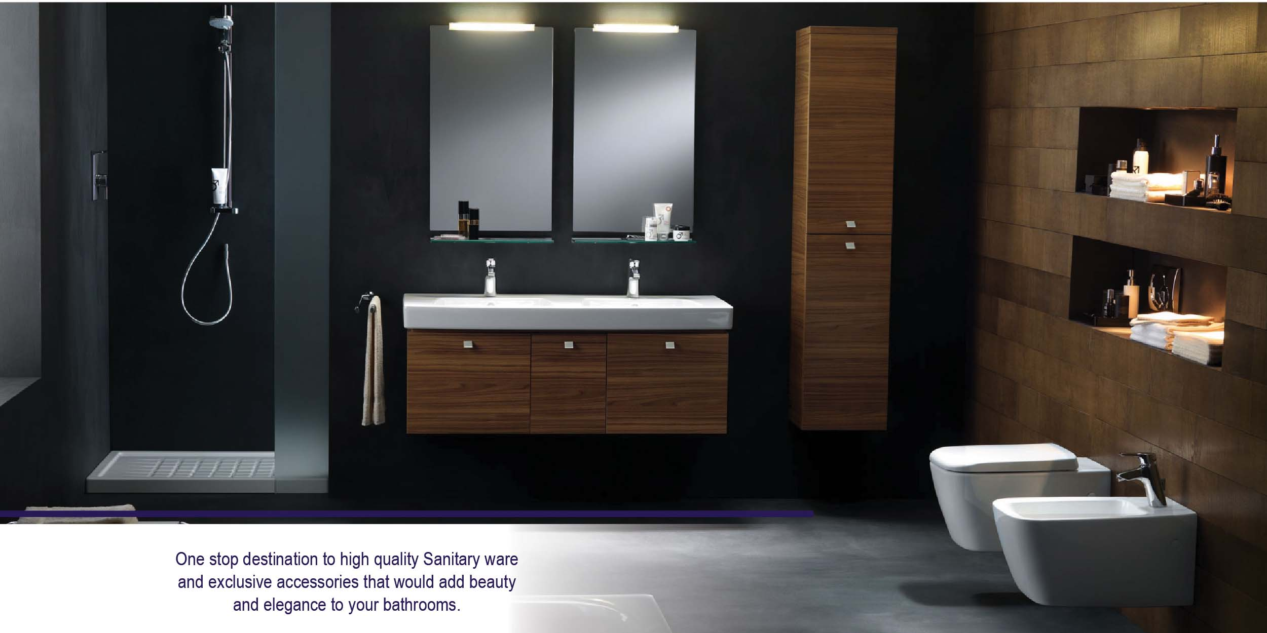 Modern time; popular style of bathroom design