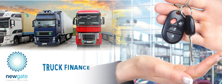 How is the system structured on the platform of the truck finance?