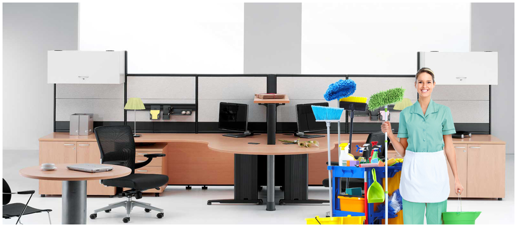 How is the office cleaning task beneficial for the business or office?